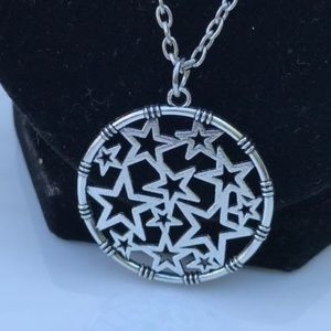 Jewelry - Womens Pendant Pentagram Circle Chain Necklace